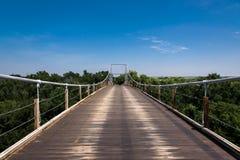 Drewniany zawieszenie most obraz royalty free