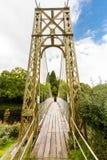 Drewniany zawieszenie mosta przejście fotografia royalty free