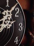 Drewniany zegar zdjęcia stock