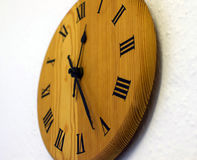 Drewniany zegar Fotografia Stock