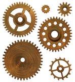 Drewniany zegarowy mechanizm Zdjęcia Royalty Free