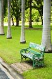 Drewniany zielony krzesło Fotografia Royalty Free