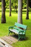 Drewniany zielony krzesło Obraz Royalty Free