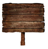 Drewniany znak Obraz Royalty Free