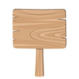 Drewniany znak. Obrazy Royalty Free