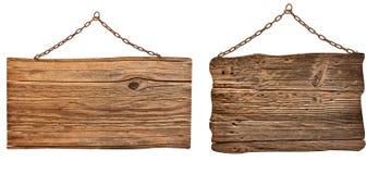 Drewniany znak Obrazy Stock