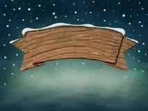 Drewniany znak royalty ilustracja