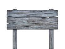 Drewniany znak na białym tle z ścinek ścieżką Zdjęcia Stock