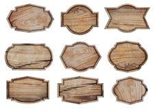 Drewniany znak odizolowywający na białym tle Obraz Royalty Free