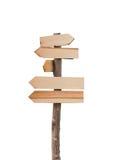 Drewniany znak odizolowywający na białym tle Zdjęcie Stock
