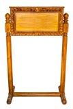 Drewniany znak odizolowywający na bielu. Obrazy Royalty Free