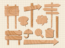 drewniany znaka ustalony wektor Royalty Ilustracja