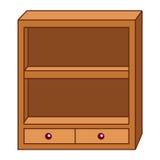 Drewnianych szafek odosobniona ilustracja Zdjęcie Royalty Free