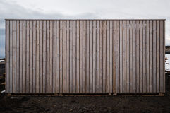 Drewno ściana, drewniani reklamy deski tła Zdjęcia Royalty Free