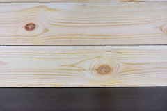 Drewno ściana i czerń stół dla tła Zdjęcia Stock