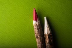 Drewno barwioni ołówki Fotografia Royalty Free