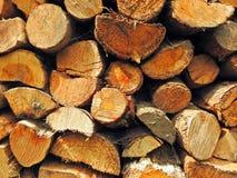 Drewno, bela stos obraz stock