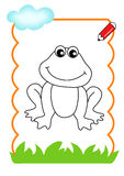 drewno być kolorem, żaba Zdjęcie Stock