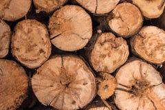 Drewno, cięcie, sztabka dla dalszy przerobu fotografia stock