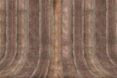 Drewno ściany krzywa Fotografia Stock