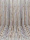 Drewno ścienna perspektywa Fotografia Stock