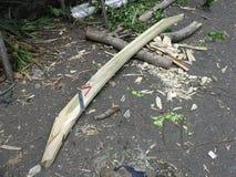 Drewno dla produkcji tradycyjni Indonezyjscy statki zdjęcia royalty free