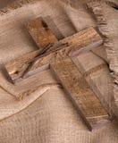 Drewno gwoździe i krzyż Obrazy Royalty Free
