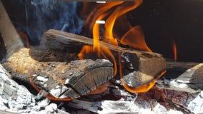 Drewno 2 i dym Fotografia Stock