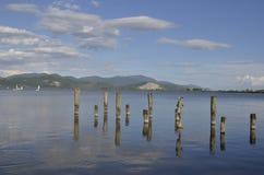 Drewno kije dla łodzi Zdjęcie Royalty Free