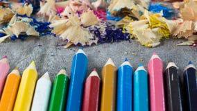 Drewno kolory Fotografia Stock