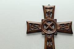 Drewno krzyża prawica fotografia stock