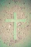 Drewno krzy? lub religia symbolu kszta?t obraz stock