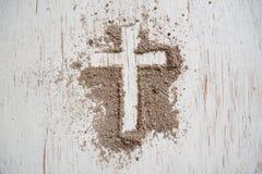 Drewno krzy? lub religia symbolu kszta?t obraz royalty free