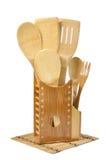 Drewno kuchenni naczynia Obrazy Stock