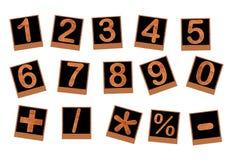 Drewno liczby Zdjęcie Stock