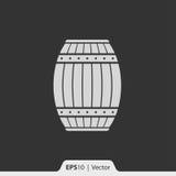 Drewno lufowa ikona dla sieci i wiszącej ozdoby Zdjęcia Royalty Free