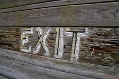 Drewno Malujący wyjście znak Zdjęcie Stock