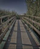 Drewno most zdjęcie stock