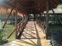 Drewno most Zdjęcie Royalty Free