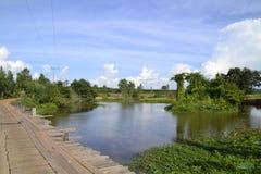 Drewno most Obraz Royalty Free