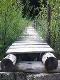 Drewno most Obraz Stock