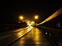 Drewno most od Sangkhlaburi Tajlandia fotografia royalty free