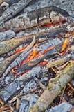 Drewno na ogieniu Zdjęcia Stock