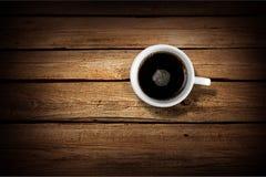 Drewno odgórna kawa Obrazy Royalty Free