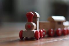 Drewno pociągu zabawka zdjęcie royalty free