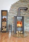 Drewno podpalająca kuchenka Zdjęcia Stock