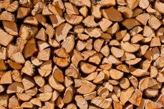 Drewno rżnięty stos Obraz Royalty Free