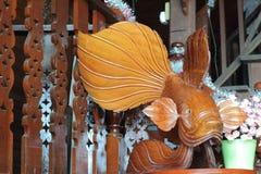 Drewno ryba rzeźbi Fotografia Royalty Free