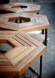 Drewno stół Zdjęcia Royalty Free