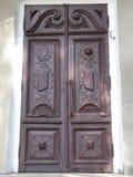 Drewno, stary drzwi Zdjęcia Royalty Free